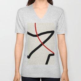 abstract minimal 46 Unisex V-Neck