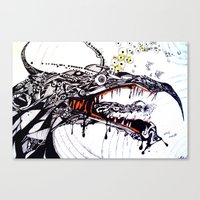 the hound Canvas Prints featuring Hound by C A R E Y  M O R T O N