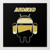 android Canvas Prints featuring Android by dextifire