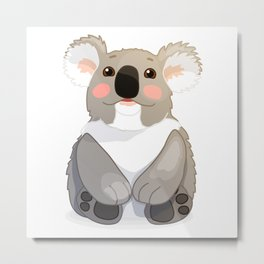 Lovely koala bear sitting and looking up. Metal Print