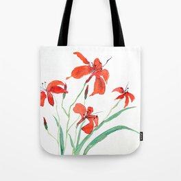 orange day lily Tote Bag