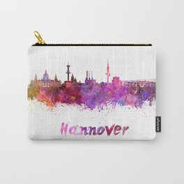 Hannover skyline in watercolor Carry-All Pouch