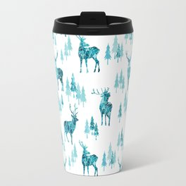 Ice Forest Deer Travel Mug