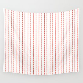 Pink Stitches Wall Tapestry