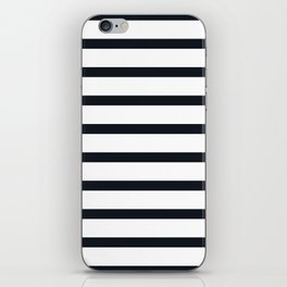 Sailor Stripes Black & White iPhone Skin