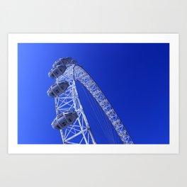 The London Eye by the River Thames Art Print