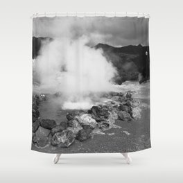Hot spring Shower Curtain