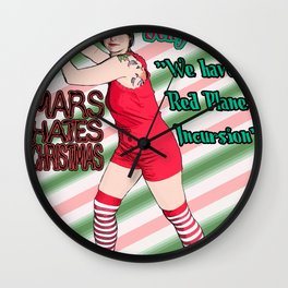 Mars Hates Christmas - Jelly Incursion Wall Clock