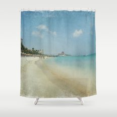 Vintage Aruba Shower Curtain
