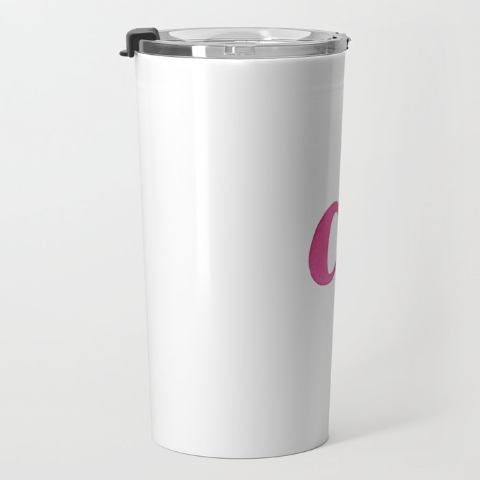 A in watercolor lettering Travel Mug