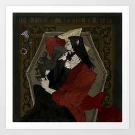Vampire Lovers Art Print