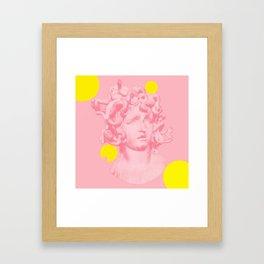 PINKY MEDUSA Framed Art Print