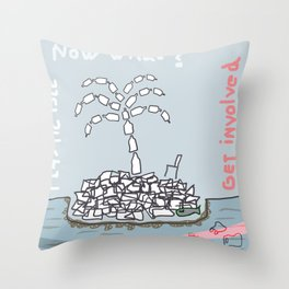Plastic Isle Throw Pillow