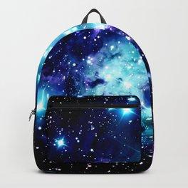 Fox Fur Nebula Turquoise Blue Purple Black Backpack