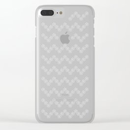Chevron flowers - Orchid Hush Clear iPhone Case