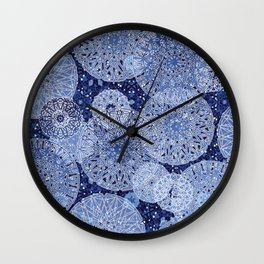 Blue Mandala Mix Wall Clock