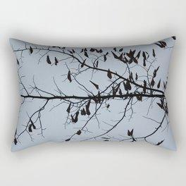 Bare branches silhouette in November Rectangular Pillow