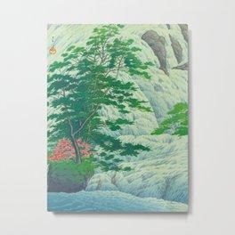 Kawase Hasui, Waterfall, Japanese Woodblock Print Ukiyo-e, Shin-hanga, Landscape Metal Print