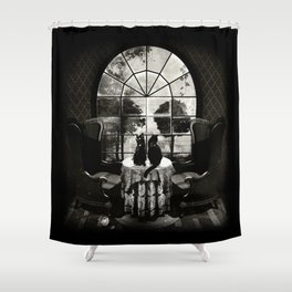 Room Skull B&W Shower Curtain
