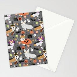 Corgi halloween costume ghost mummy vampire howl-o-ween dog gifts Stationery Cards