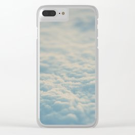 above the clouds ... Clear iPhone Case