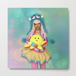 Rainbow Monster Metal Print