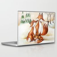foxes Laptop & iPad Skins featuring Foxes by Arianna Usai