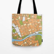 Vintage Style Map of Melbourne - ORANGE Tote Bag