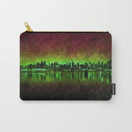 NYC Surreal Green Carry-All Pouch