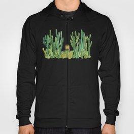 In my happy place - hedgehog meditating in cactus jungle Hoody