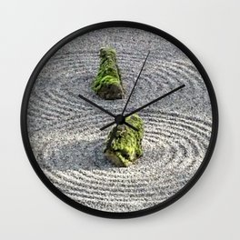 Japanese Stone and Sand Garden Wall Clock