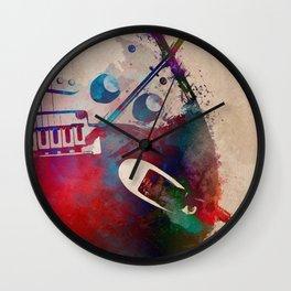 guitar art 4 #guitar #music Wall Clock