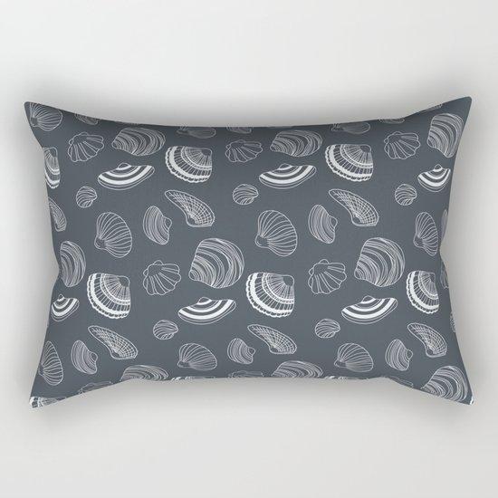 Tropical pattern with sea shells Rectangular Pillow