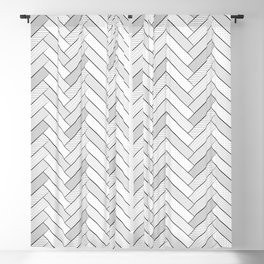 black and white geometric pattern, graphic design Blackout Curtain