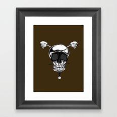 Baseball Skulls and Trebuchet's Framed Art Print