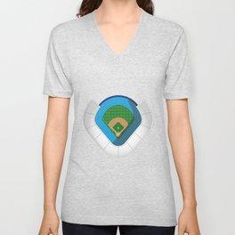 Baseball Stadium Unisex V-Neck