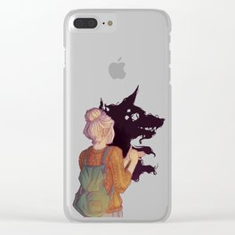 Shadows Lady Clear iPhone Case