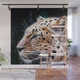 Leopard  lines ,Leopard  painting Wall Mural