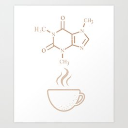 Coffee Lover Gift Shirt Art Print