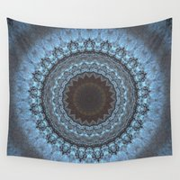 bohemian Wall Tapestries featuring Bohemian Blue by Jane Lacey Smith
