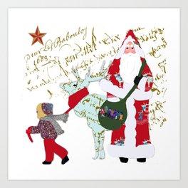 A French Script Christmas Art Print
