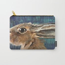 Hare on Blue Carry-All Pouch