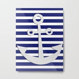 Hipster Sailing Metal Print