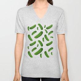 pickles pattern Unisex V-Neck