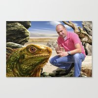 lizard Canvas Prints featuring Lizard by amanvel