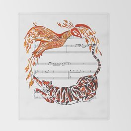 The Tiger and the Phoenix Throw Blanket