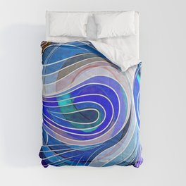 Everything Is Created Imperfect Blue Coral Comforters
