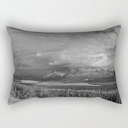 Matanuska Glacier Mono Rectangular Pillow