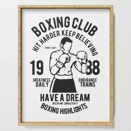 boxing club Serving Tray