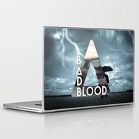 bastille Laptop & iPad Skins featuring Bastille - Bad Blood by Thafrayer